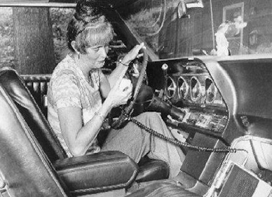 Una usuaria de la CB en los años sesenta.