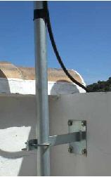 Montaje sencillo de una antena de base.