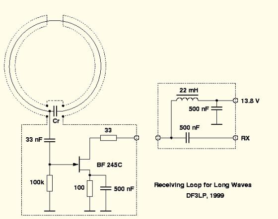 Esquema del circuito eléctrico del previo de recepción.