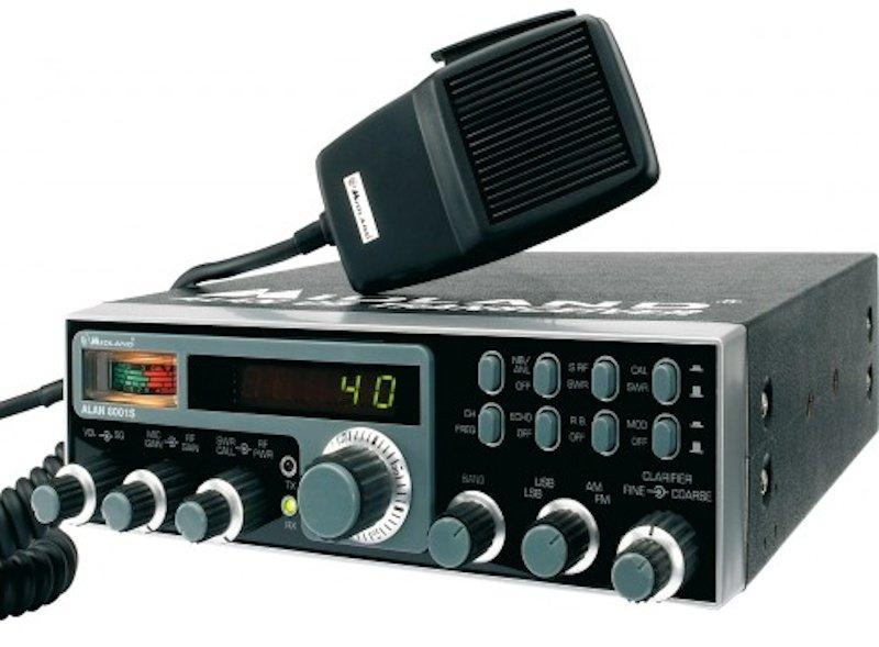 La CB en 27 MHz está dividida en 40 canales de comunicación (foto cortesía Midland)