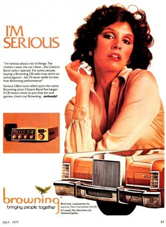 Publicidad de CB en Estados Unidos en los años 70