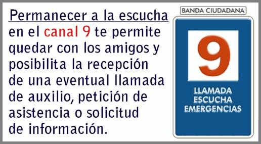 Uso del canal 9 de Banda Ciudadana