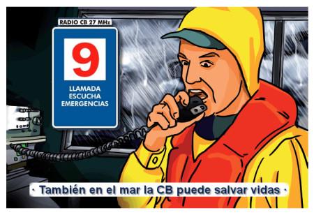 También en el mar la CB puede ayudar a salvar vidas.