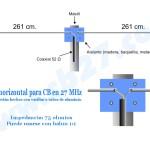 Dipolo horizontal para CB en 27 MHz
