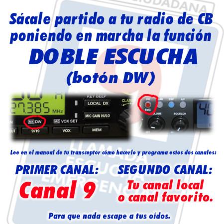 Con la función 'doble escucha' activada podrás monitorizar además tu canal favorito.