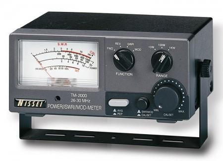 Medidor SWR/PWR con diferentes escalas (Foto cortesía Pihernz)