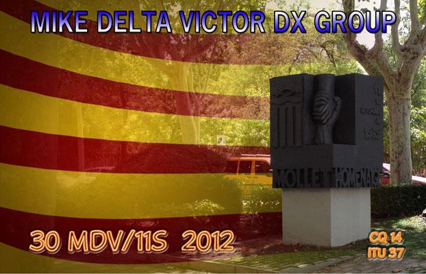 QSL que se enviará al contacto confirmado en esta activación MDV DX Group