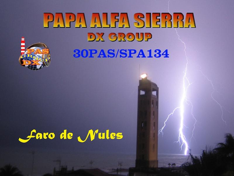 QSL del Grupo PAS activando faros