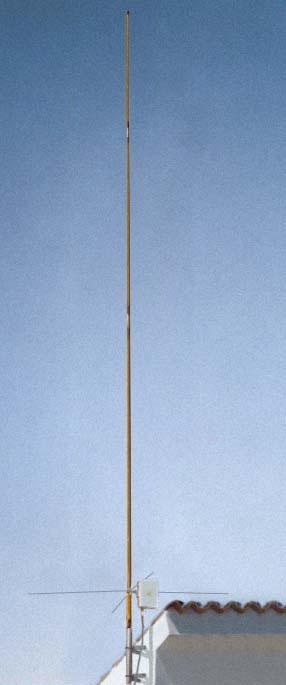 Antena de 1/2 onda, construida con materiales de deshecho y una caña de pescar