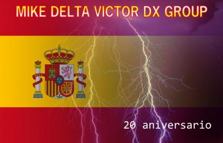QSL especial de la activación 20 aniversario MDV