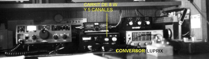 Armarito de radio de EC1GA, hacia 1980