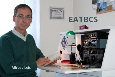 Alfredo, EA1BCS, autor del artículo