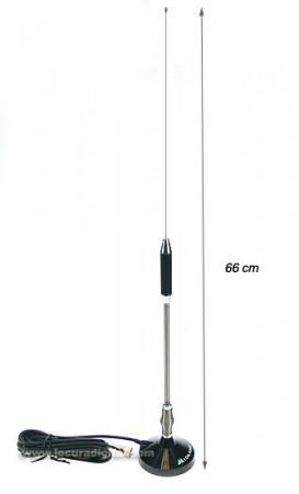 Antena portátil con base magnética (foto cortesía Locura Digital)