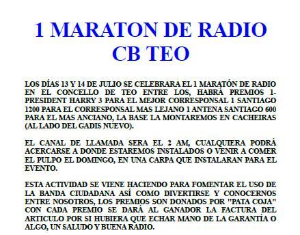 I Maratón de radio CB Teo