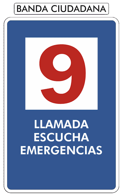 Canal 9 de CB. Llamada, escucha y emergencias