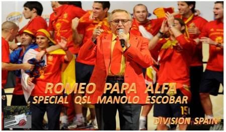 "QSL especial ""Manolo Escobar"" del Grupo DX RPA"