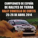 Cartel anunciador del rally Curtis 2014