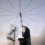 Colocando una antena de CB en base