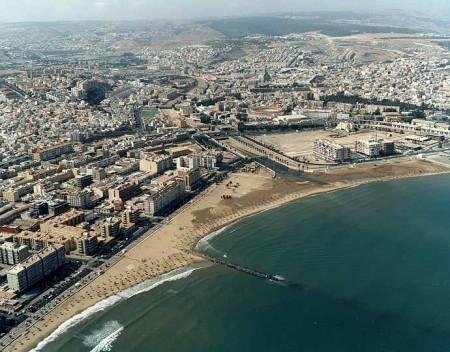 Vista aérea de la ciudad autónoma de Melilla
