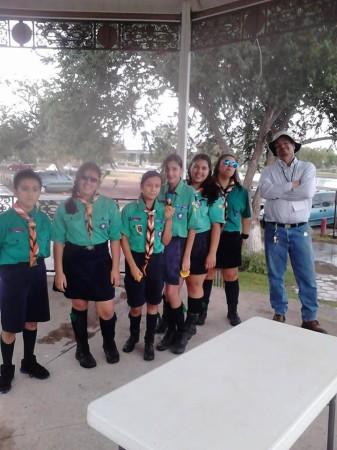 Grupo de scouts participantes en el evento (foto: Azteca DXers)