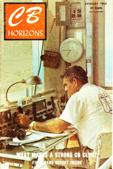Portada de la revista CB Horizons, enero de 1964