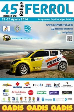 Cartel del 45 Rallye Ferrol