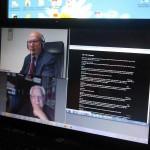 Enrico Compagnoli (ECBF) y André Antonio (FFCBL/SER), en videocoferencia