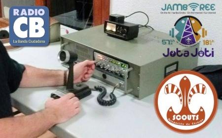 También se hicieron contactos en CB durante el JOTA 2014 desde Córdoba (España)