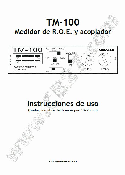 Manual TM-100, página 1