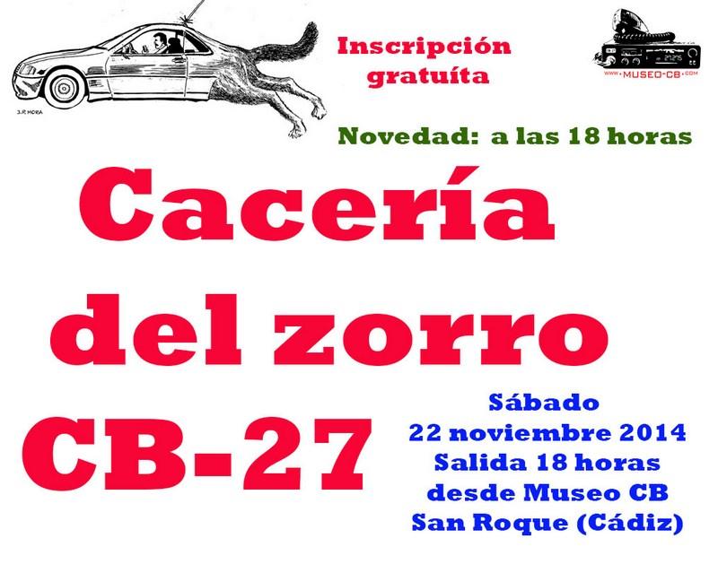 Cacería del Zorro CB27 en el Campo de Gibraltar