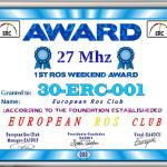 30ERC001, 1er ROS Weekend en 27 MHz