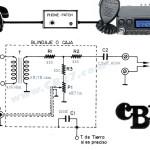 Circuito eléctrico del phone-patch (revista CB11, 1984)