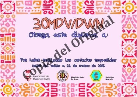 Diploma 30MDV/DWN 2015