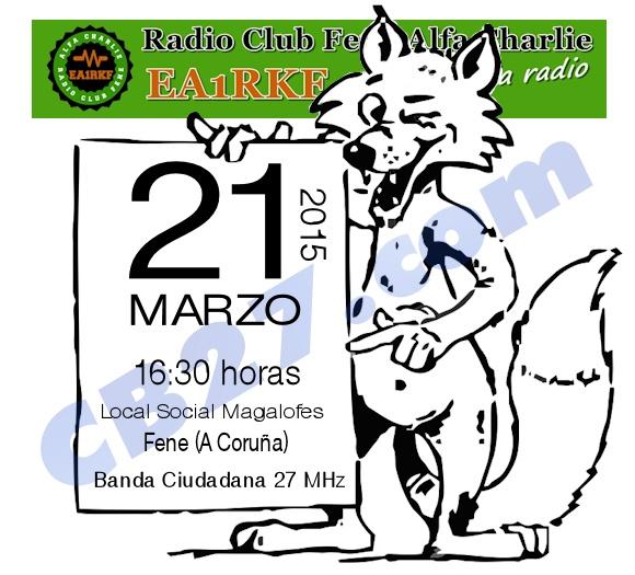 Caza del zorro en Fene (A Coruña), el 21 de marzo