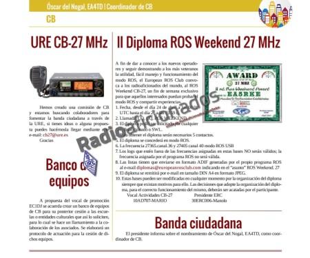 La CB tiene una sección en la revista Radioaficionados, publicada por la URE