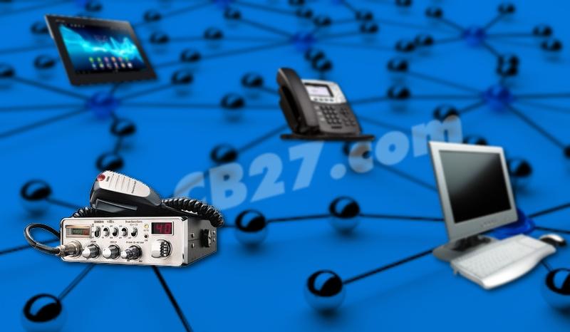 Un equipo de CB puede estar conectado a internet.