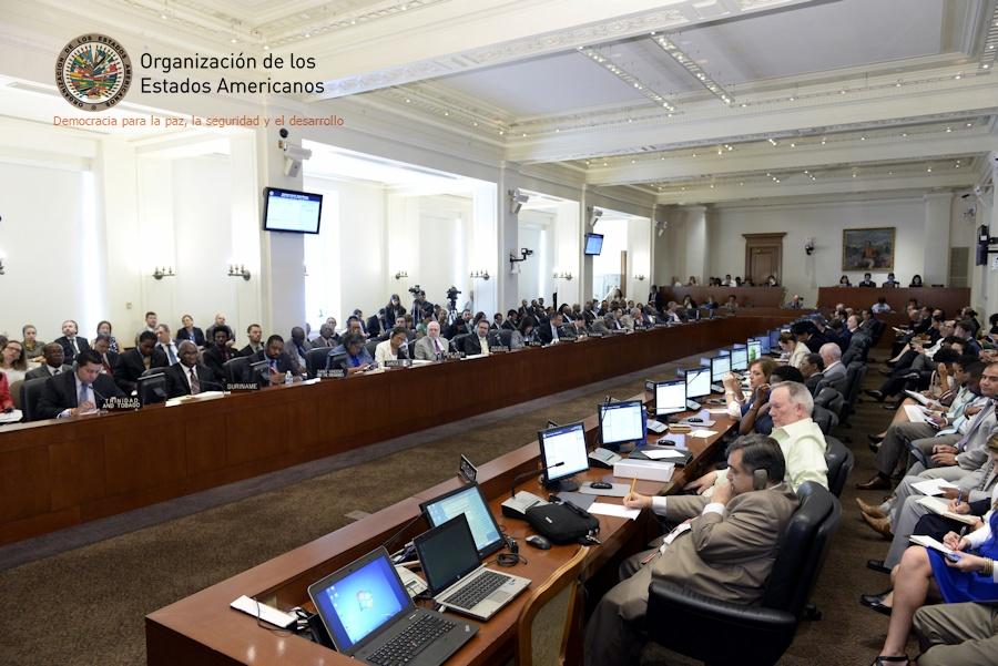 Asamblea del consejo permanente de la OEA.
