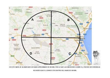 Localización geográfica de la prueba