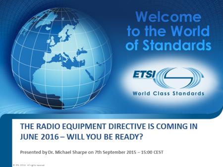 'La directiva sobre equipos de radio llega en junio de 2016, ¿estarás listo?'