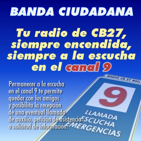 Tu radio de CB, siempre encendida y a la escucha en el canal 9