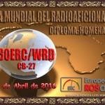 Diploma en conmemoración del DIA mundial de los radioaficionados en CB-27