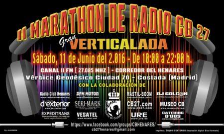 12 horas de radio en Banda Ciudadana CB27 y verticalada.