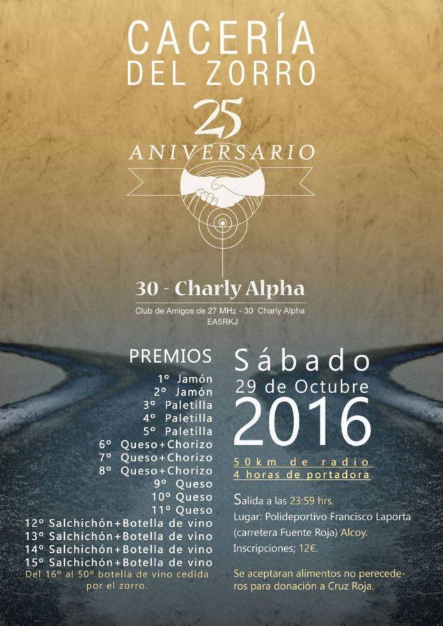 Cacería del Zorro 25º aniversario 30CA
