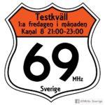 Suecia, CB en VHF, 69 MHz, 25w, uso sin licencia.