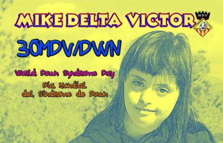 QSL 30MDV/DWN, Día Mundial del Síndrome de Down