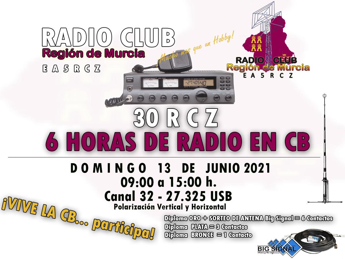 El Radio Club Región de Murcia organiza Seis horas de radio en Banda Ciudadana.